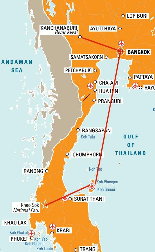 Kort yfir Ævintýraferðina til Thailands